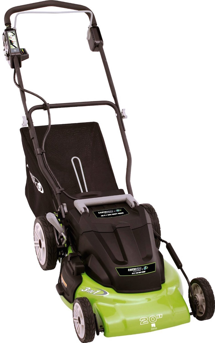 Earthwise lawn mower 20 cordless 36 volt side discharge for Lawn mower electric motor