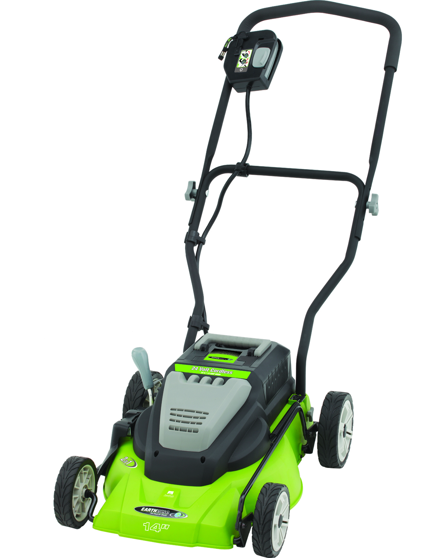 earthwise lawn mower cordless 14 inch 24 volt side. Black Bedroom Furniture Sets. Home Design Ideas