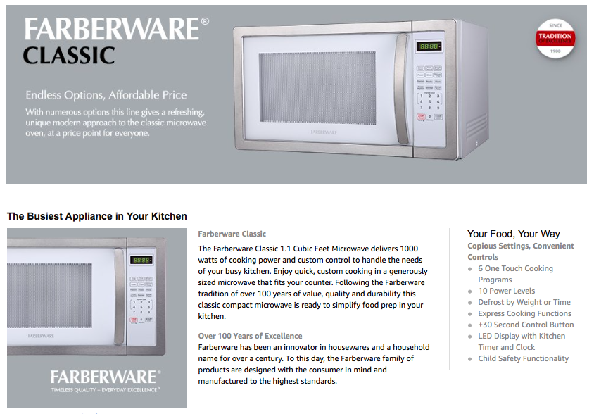 innovation report on the microwave oven essay Microwave ovens also save energy, because you can cook immediately without waiting for the oven to heat up to a high temperature first let's take a closer look at how they work let's take a closer look at how they work.