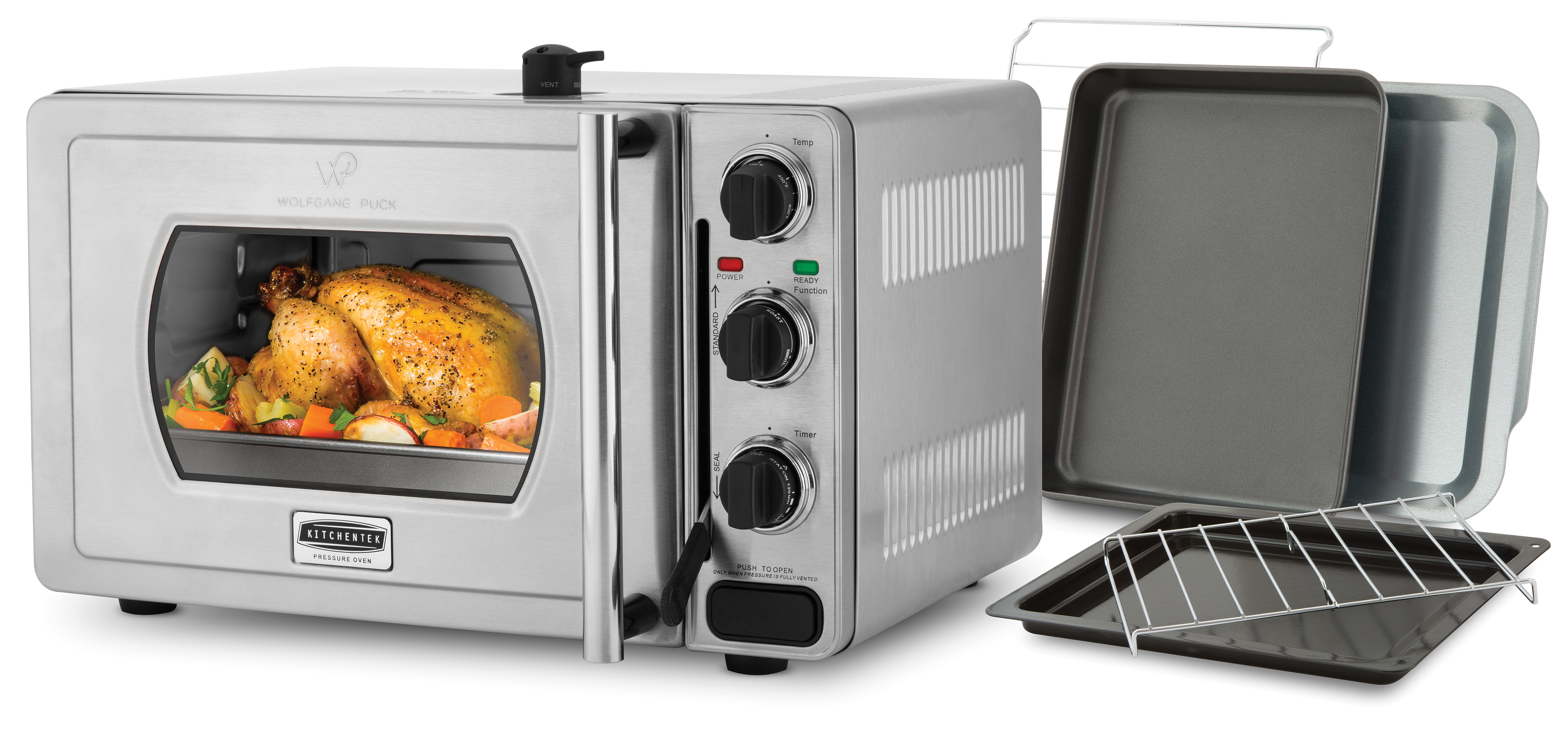 Wolfgang puck pressure oven essential 22 liter stainless for Wolfgang puck pressure oven