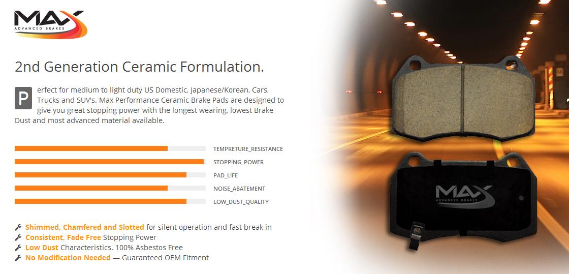 Premium Ceramic Brake Pads /& Brake Shoes Front+Rear KIT