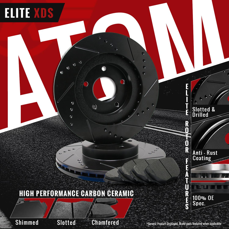 Front Rear Rotors w//Ceramic Pads Elite Brakes 03-06 Expedition Navigator