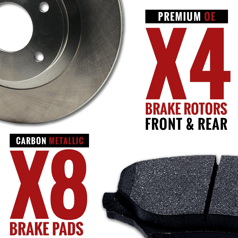 Rotors Metallic Pads F+R 2010 2011 2012 2013 Lexus RX350 OE Replacement
