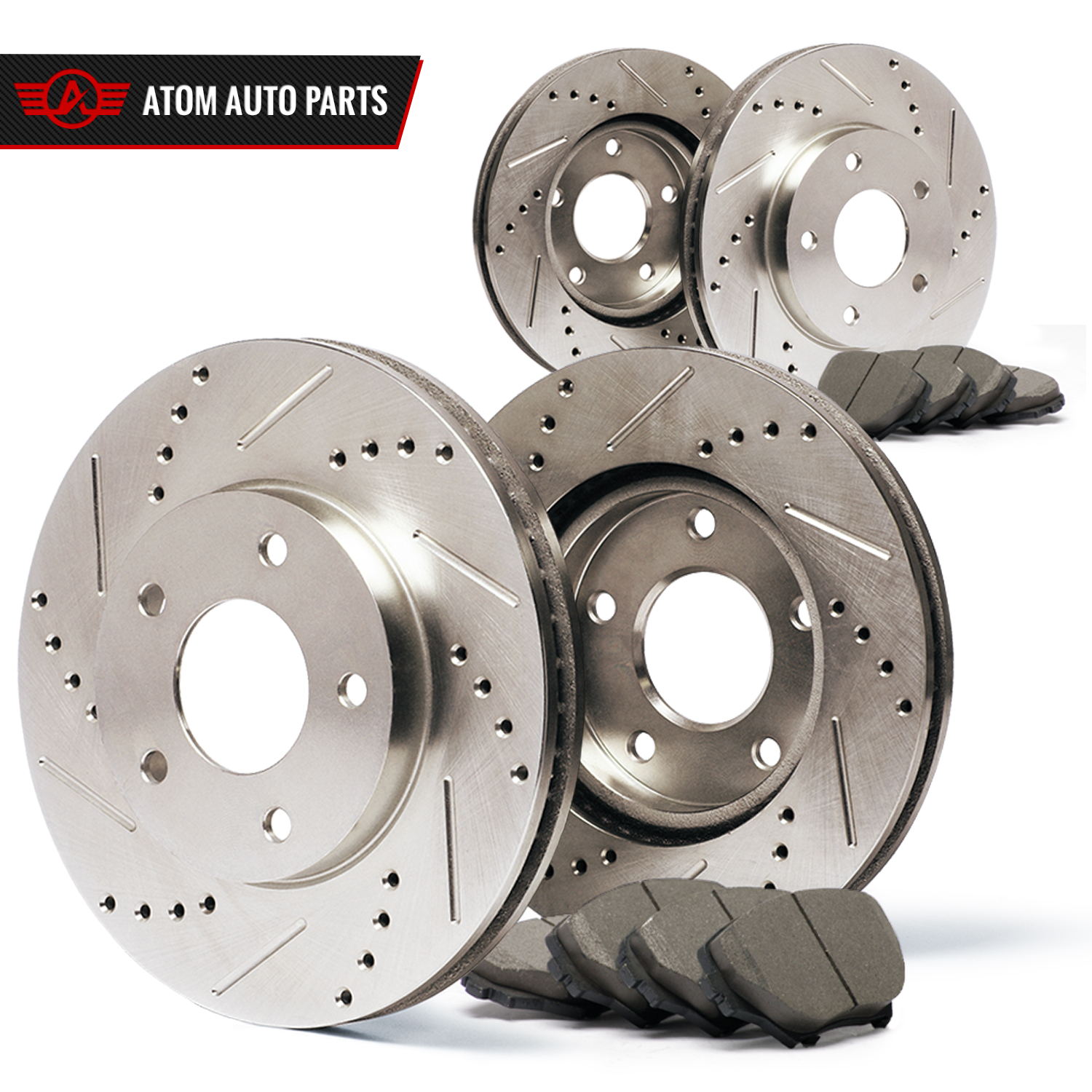 Slotted Drilled See Desc Rotors Ceramic Pads F+R 11 Fits Infiniti M37//M56