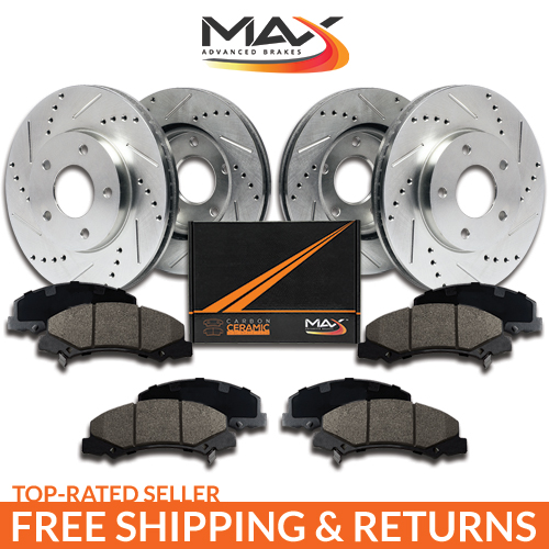 [Front + Rear] Rotors w/Ceramic Pads Premium Brakes Caravan Journey Town Country