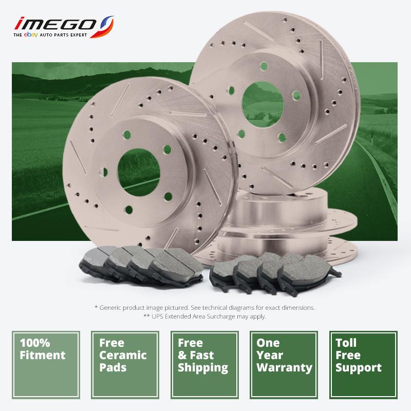 |Front + Rear| Rotors w/Ceramic Pads Premium Brakes Caravan Journey Town Country