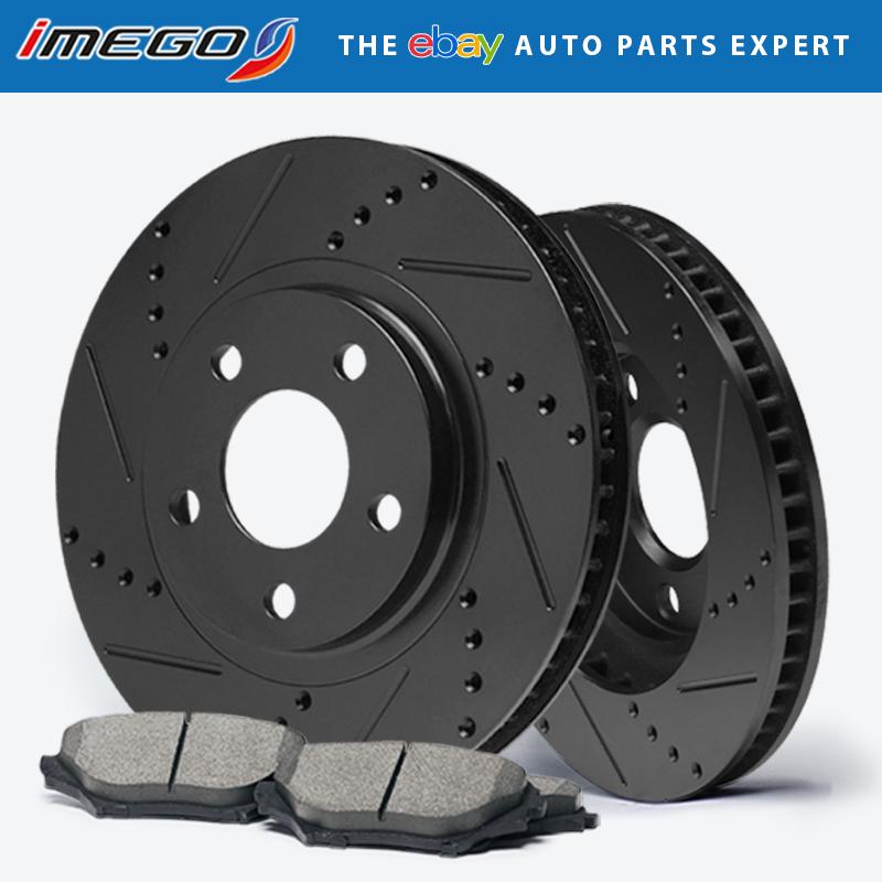 Rotors w//Ceramic Pads Elite Brakes 2007-2012 Fusion MKZ Mazda 6 |Rear