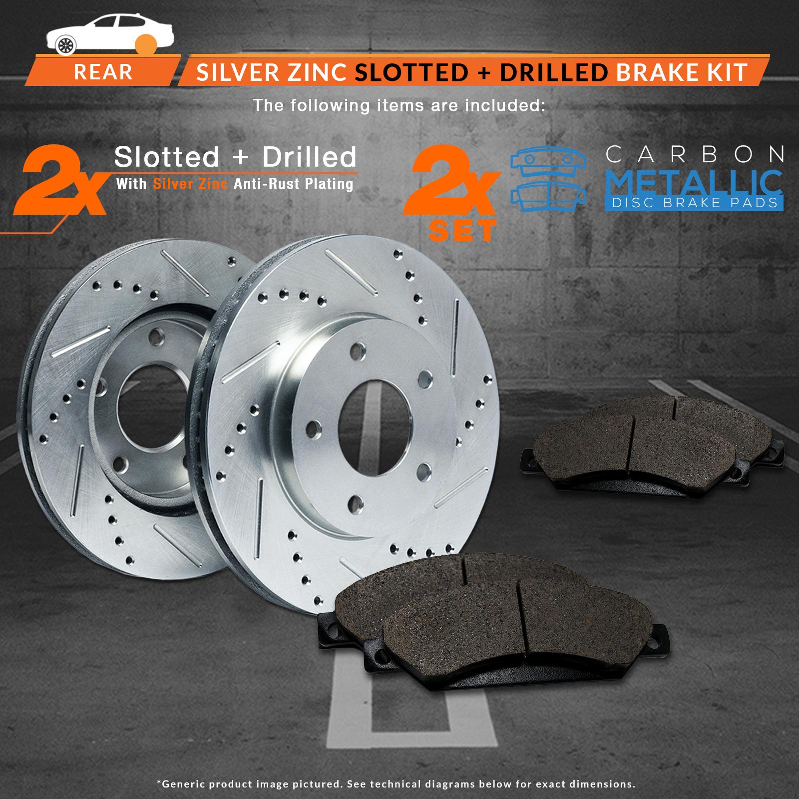 Brakes 07-13 C30 C70 05-11 S40 V50 Rotors w//Metallic Pad Perf Rear