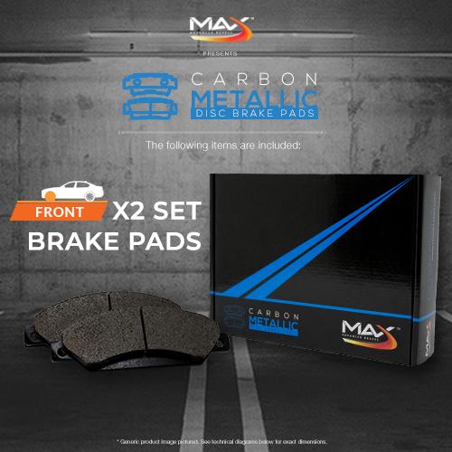 2004 2005 Mercedes Benz E320 4Matic Max Performance Metallic Brake Pads F