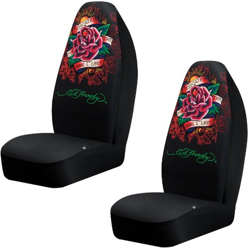 Front Car SUV Bucket Seat Covers Ed Hardy Dedicated To The