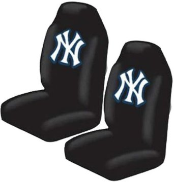 front car truck suv bucket seat covers mlb new york yankees pair ebay. Black Bedroom Furniture Sets. Home Design Ideas