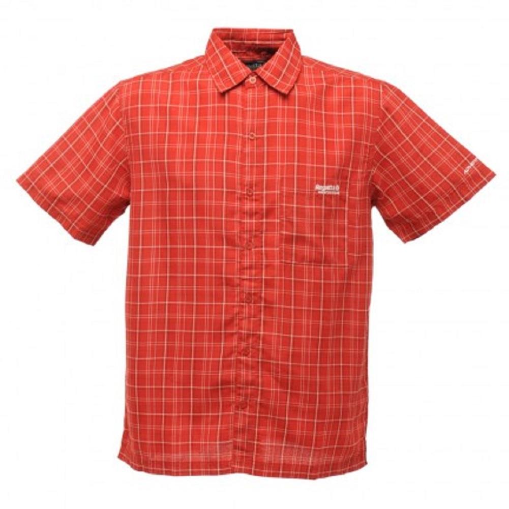 Regatta shelton mens short sleeve casual summer walking for Short sleeve casual shirt