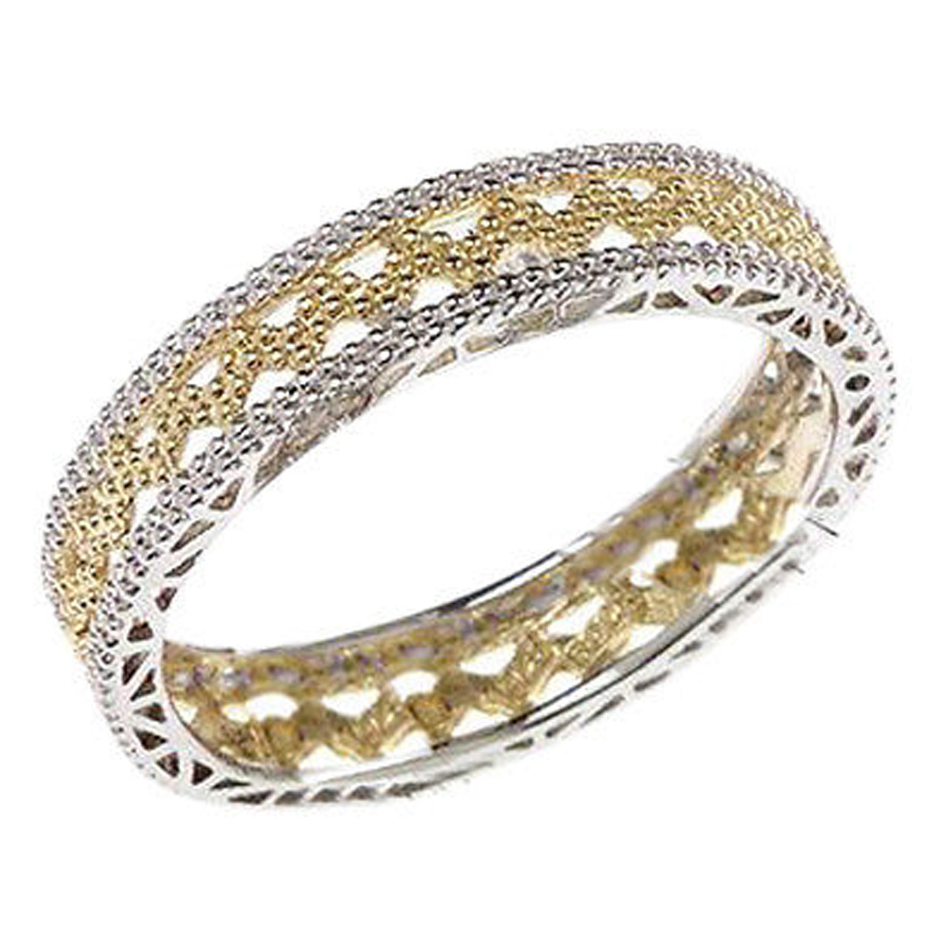 qvc two tone sterling silver eternity band ring 6 ebay