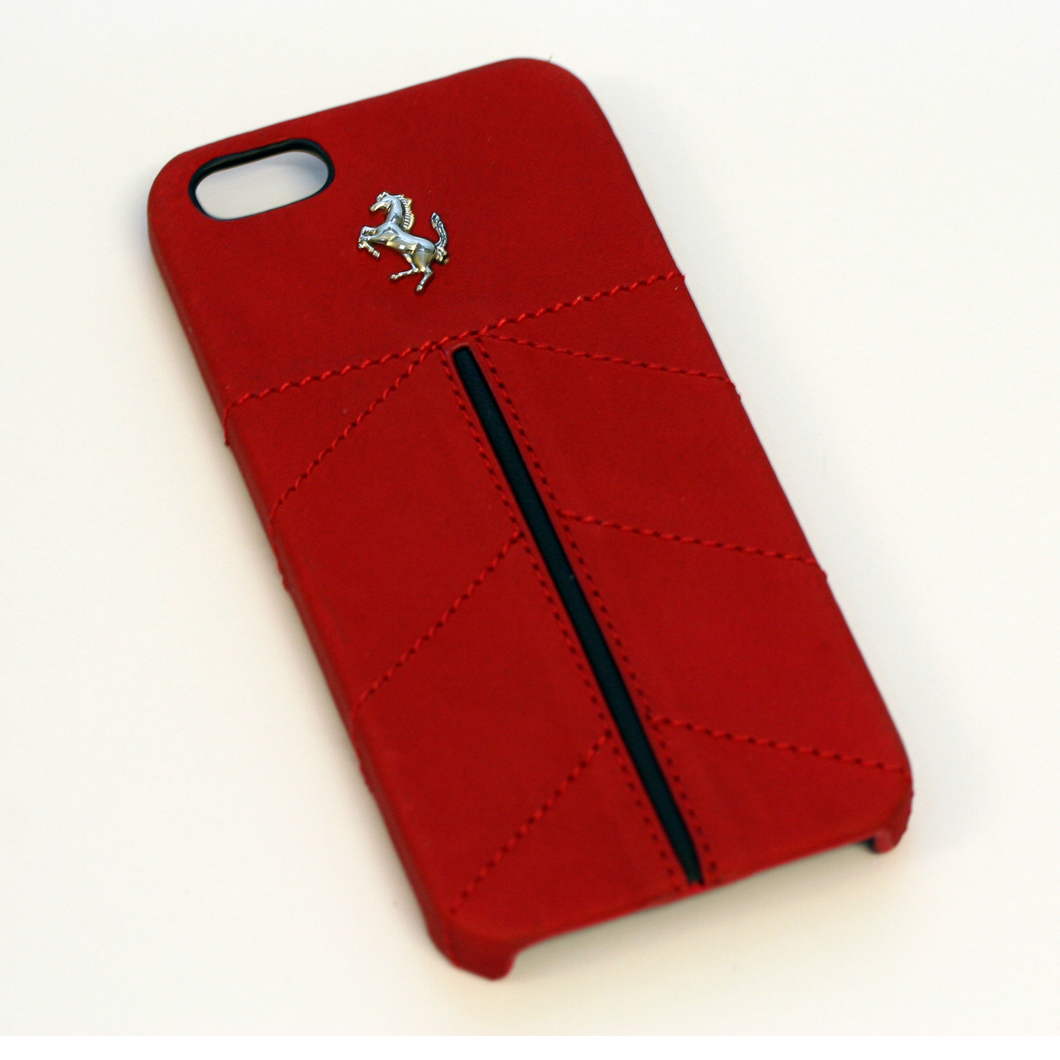 Ferrari IPhone 5 5S Red Leather Stitching Case CG Mobile New FECFIP5R