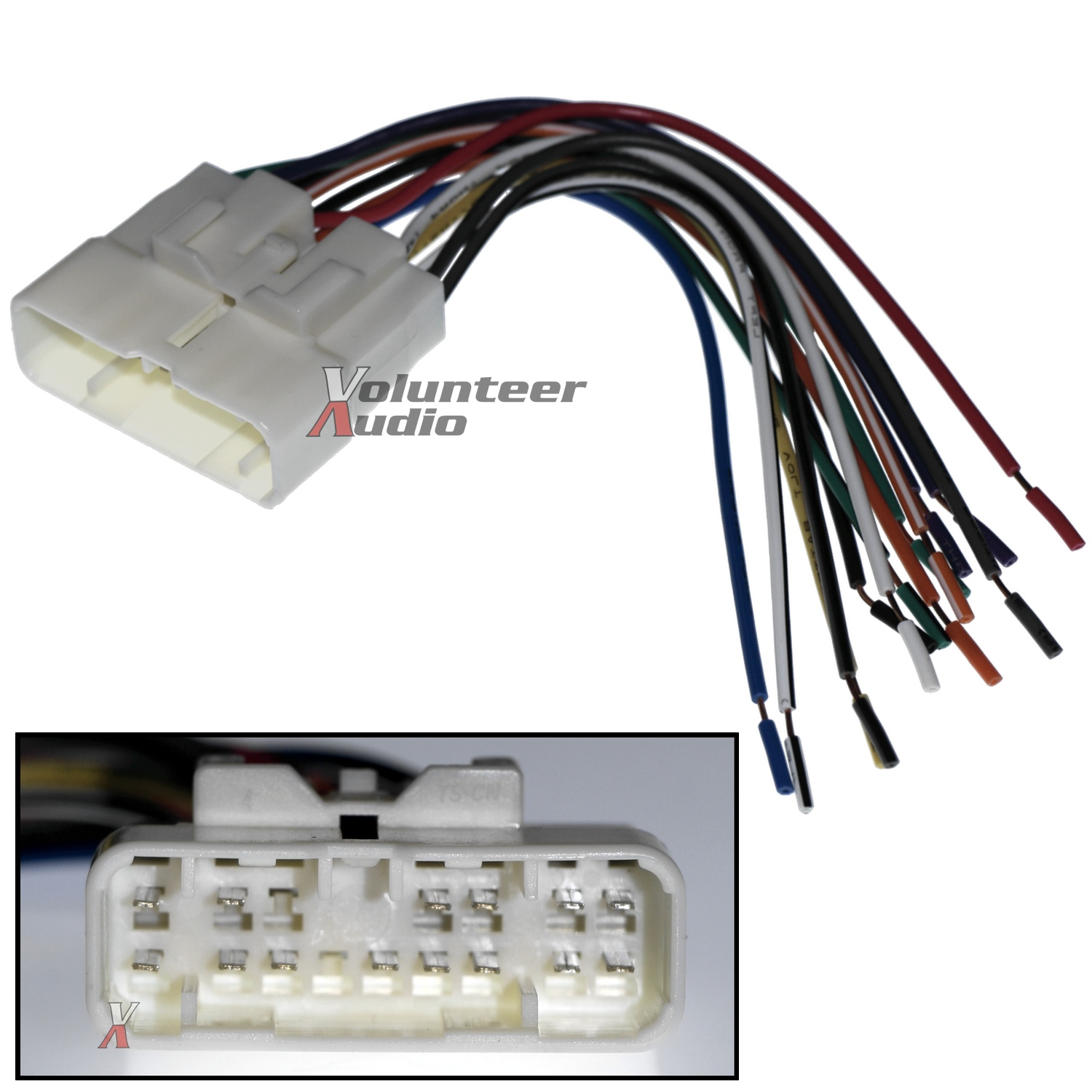 Aftermarket Car Wiring Harness : Car stereo cd player wiring harness wire aftermarket radio