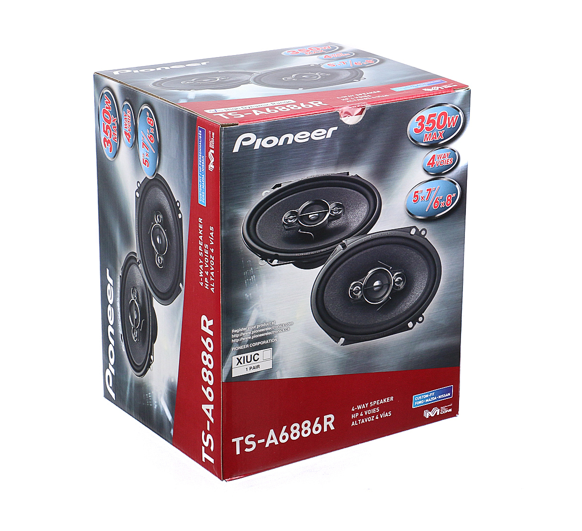 pioneer ts a6886r 6 quot x8 quot speakers with wiring harness fits ford 1 pair 60watt rms ebay