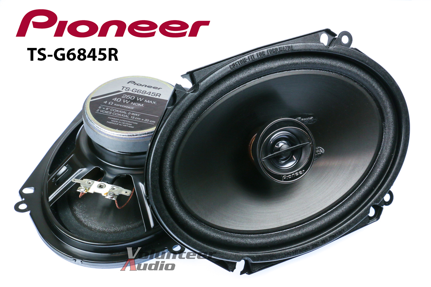 pioneer ts g6845r 6x8 speakers with wiring harness fits pioneer speaker wiring colors pioneer speaker wiring colors