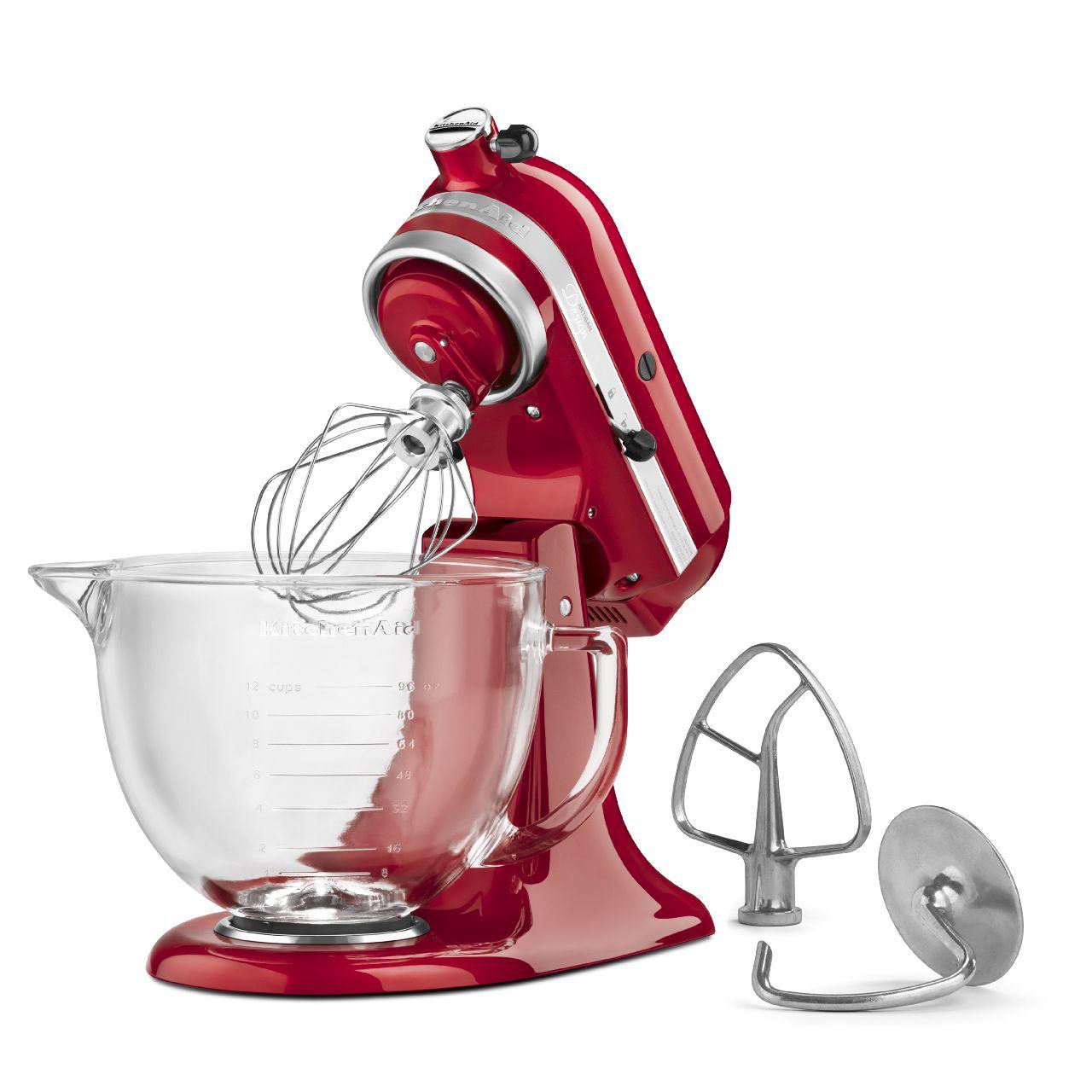 KitchenAid 5 Quart Artisan Stand Mixer Design Series Glass Bowl Candy Apple R