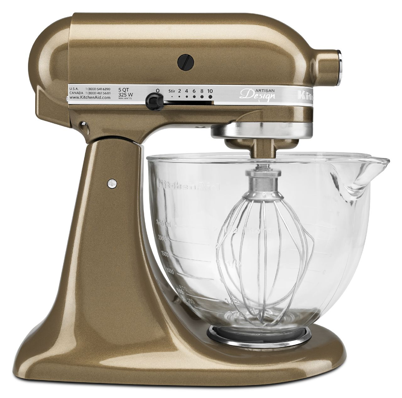 kitchenaid artisan design 5qt tilt head stand mixer glass bowl ksm155gb ebay. Black Bedroom Furniture Sets. Home Design Ideas