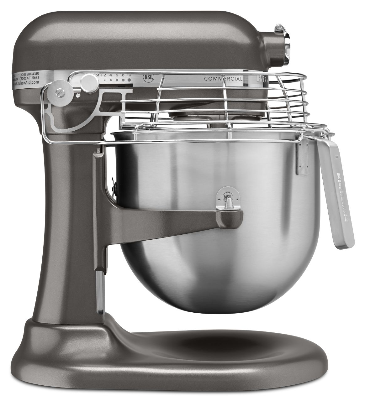KitchenAid® NSF Certified® Commercial 8-Qt Bowl Lift Stand Mixer ...