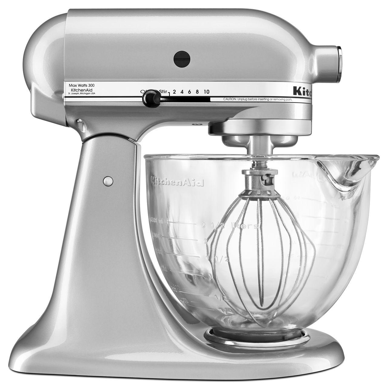 Kitchenaid 174 5 Quart Tilt Head Stand Mixer With Glass Bowl