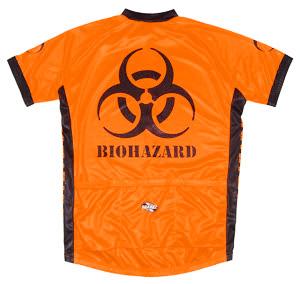 Suarez Biohazard Orange Cycling Jersey