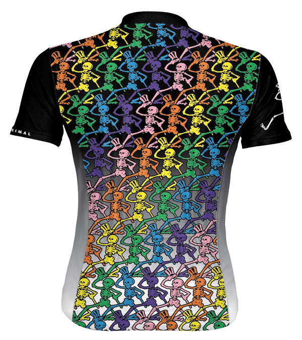 Primal Wear Grateful Dead Dancing Skeletons Cycling Jersey
