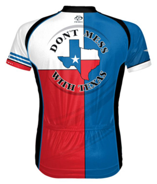 Primal Wear Texas Flag Men's Cycling Jersey