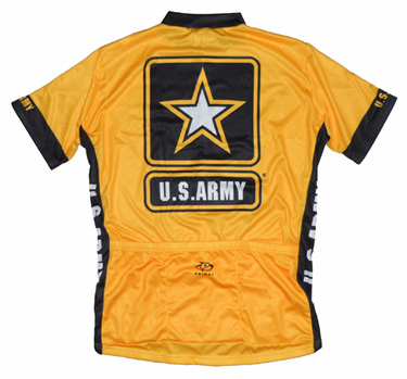 Primal Wear U.S. Army bicycle jersey - back view