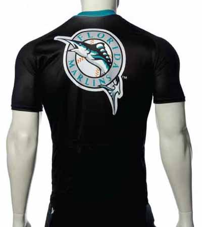 Florida Marlins Cycling Jersey back