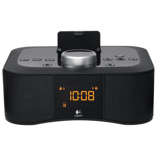 logitech s400i 30 pin alarm clock speaker dock for ipod. Black Bedroom Furniture Sets. Home Design Ideas