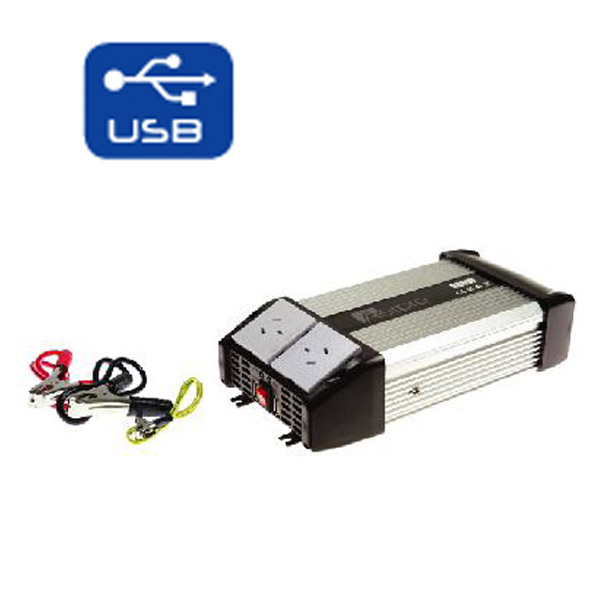 Details about Power Inverter with USB Charger 800W 12V - 240V