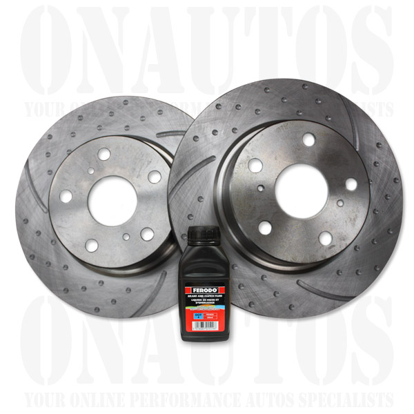 Subaru-BRUMBY-AU-85-93-Front-Drilled-Slotted-RDA-Disc-Brake-Rotors-Fluid