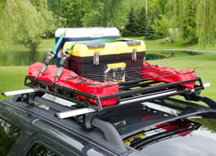Automotive accessories, racks, carriers and cargo storage