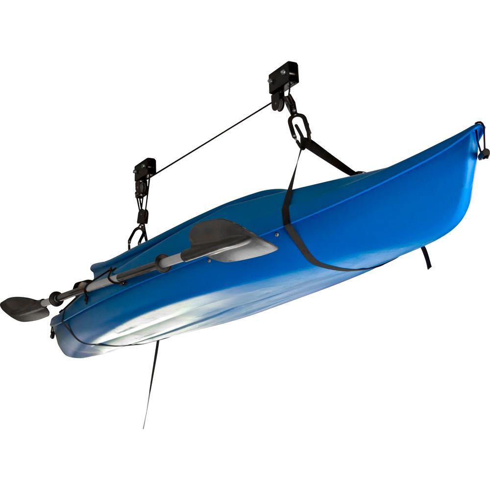 Canoe kayak hoist overhead lift garage ceiling storage