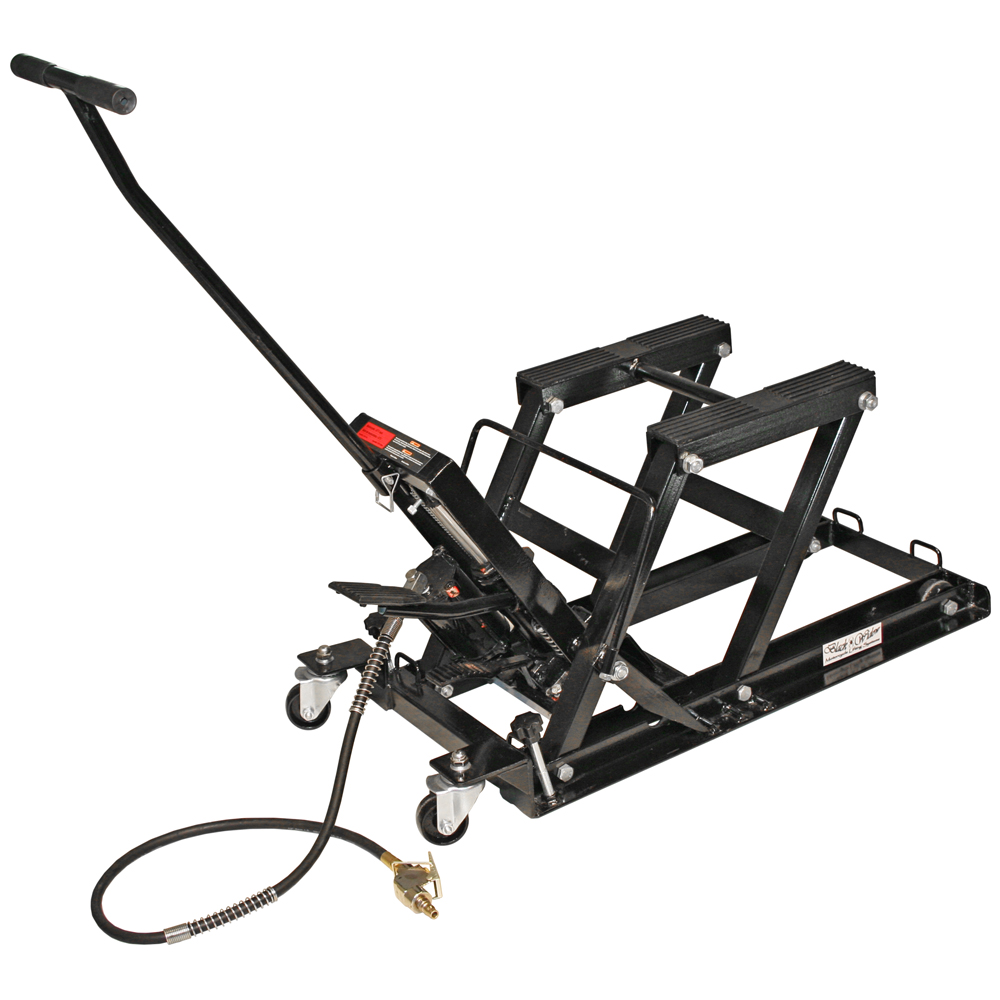 Hydraulic Motorcycle Stand : Air hydraulic foot pedal lb motorcycle atv jack