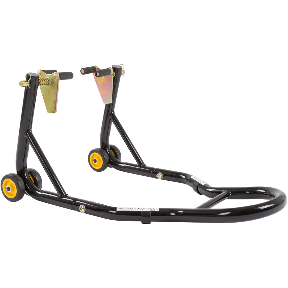 Front Fork&Rear Spool Black Motorcycle Paddock Lift Stand