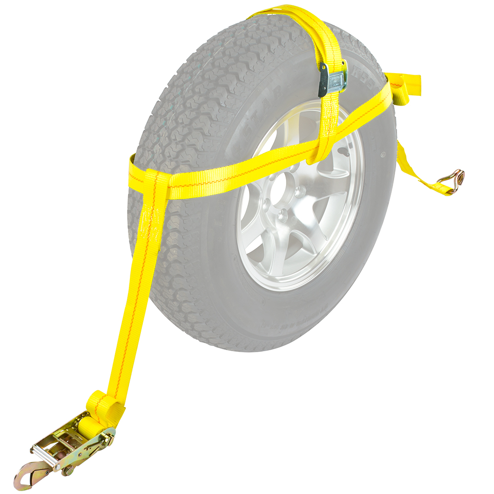 """Rage Powersports Auto Hauler Wheel Bonnet Cam Adjustable Tie-Down Strap for 16""""D or Larger Tires (Single) at Sears.com"""