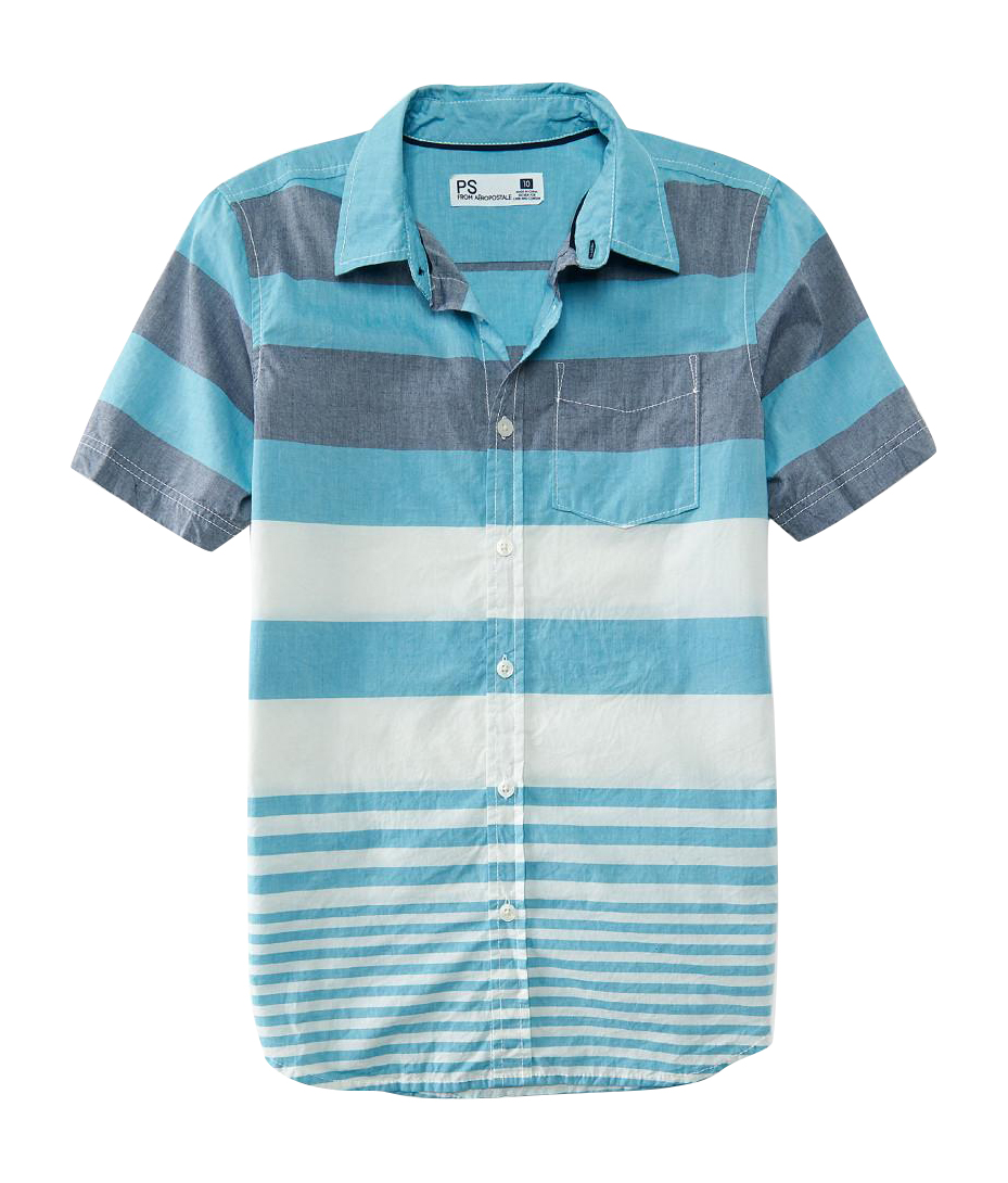 Aeropostale kids ps boys 39 variegated stripe woven shirt for Boys teal t shirt