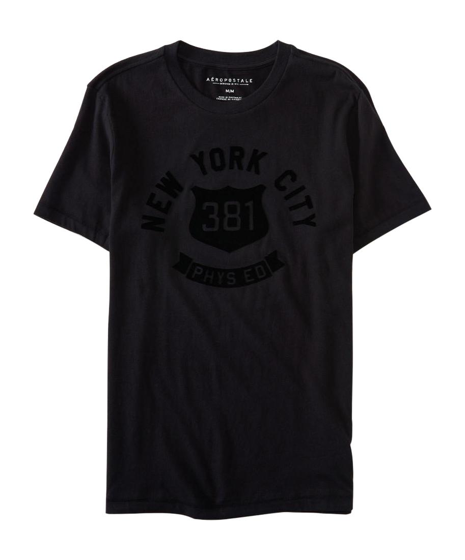 aeropostale mens new york city 381 graphic t shirt black ...