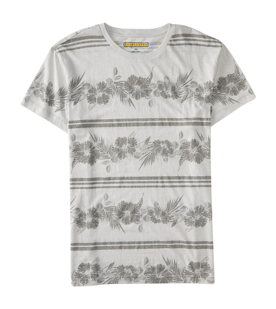 Aeropostale mens prince fox hawaiian stripe graphic t for Hawaiian graphic t shirts