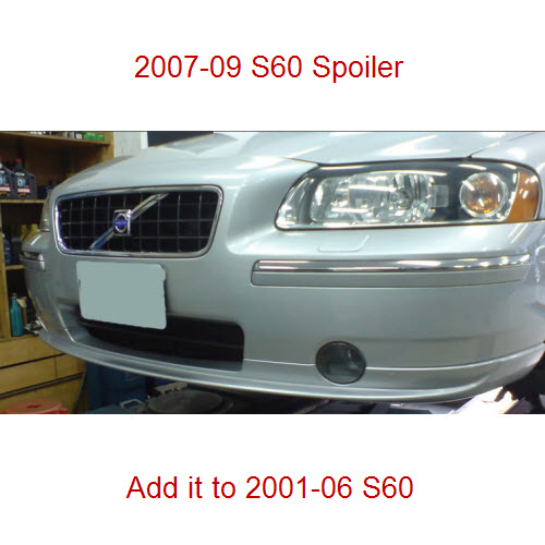 Genuine Volvo S60 Front Lower Lip Spoiler OE OEM 39871587 un-painted