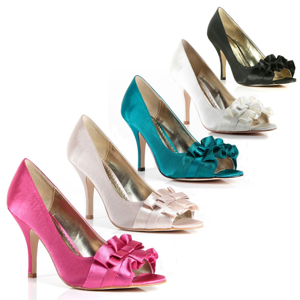 Moda-In-Pelle-Candyfloss-Womens-Court-Shoes-In-Satin-Multiple-Colours