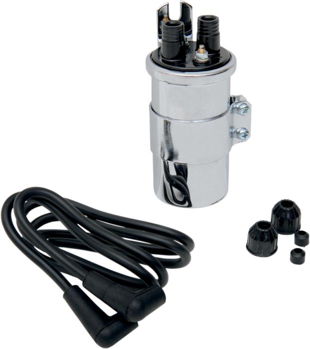6 Volt Ignition Coil : Ds custom round volt dual fire ignition coil w wires chr