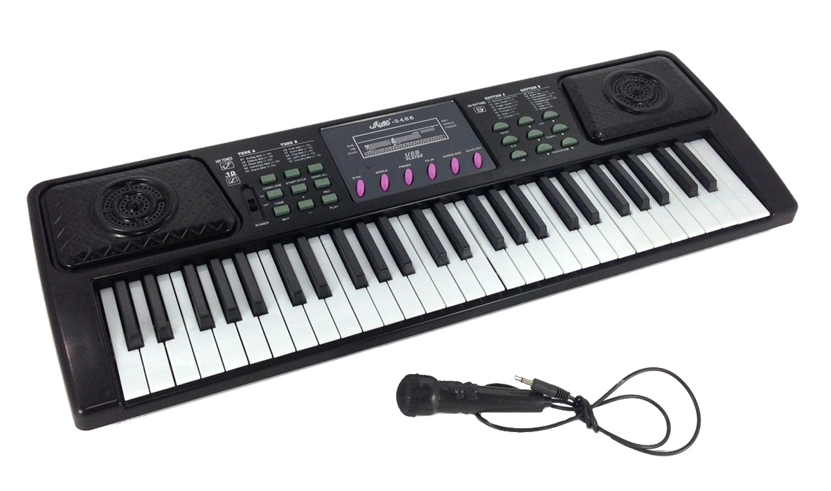 54 key electric keyboard electronic piano organ music microphone recording ebay. Black Bedroom Furniture Sets. Home Design Ideas