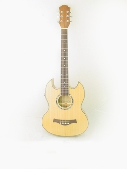 thin line sg acoustic electric double cutaway guitar ebay. Black Bedroom Furniture Sets. Home Design Ideas