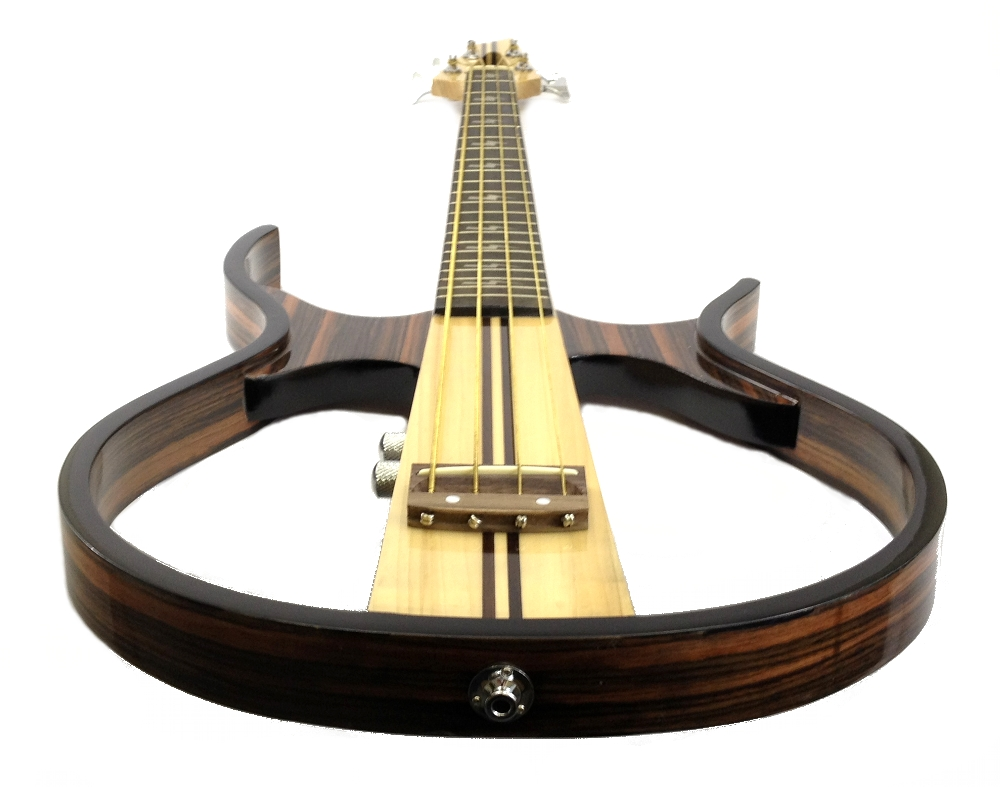 silent bass guitar sandalwood hollow body electric acoustic headphones included ebay. Black Bedroom Furniture Sets. Home Design Ideas