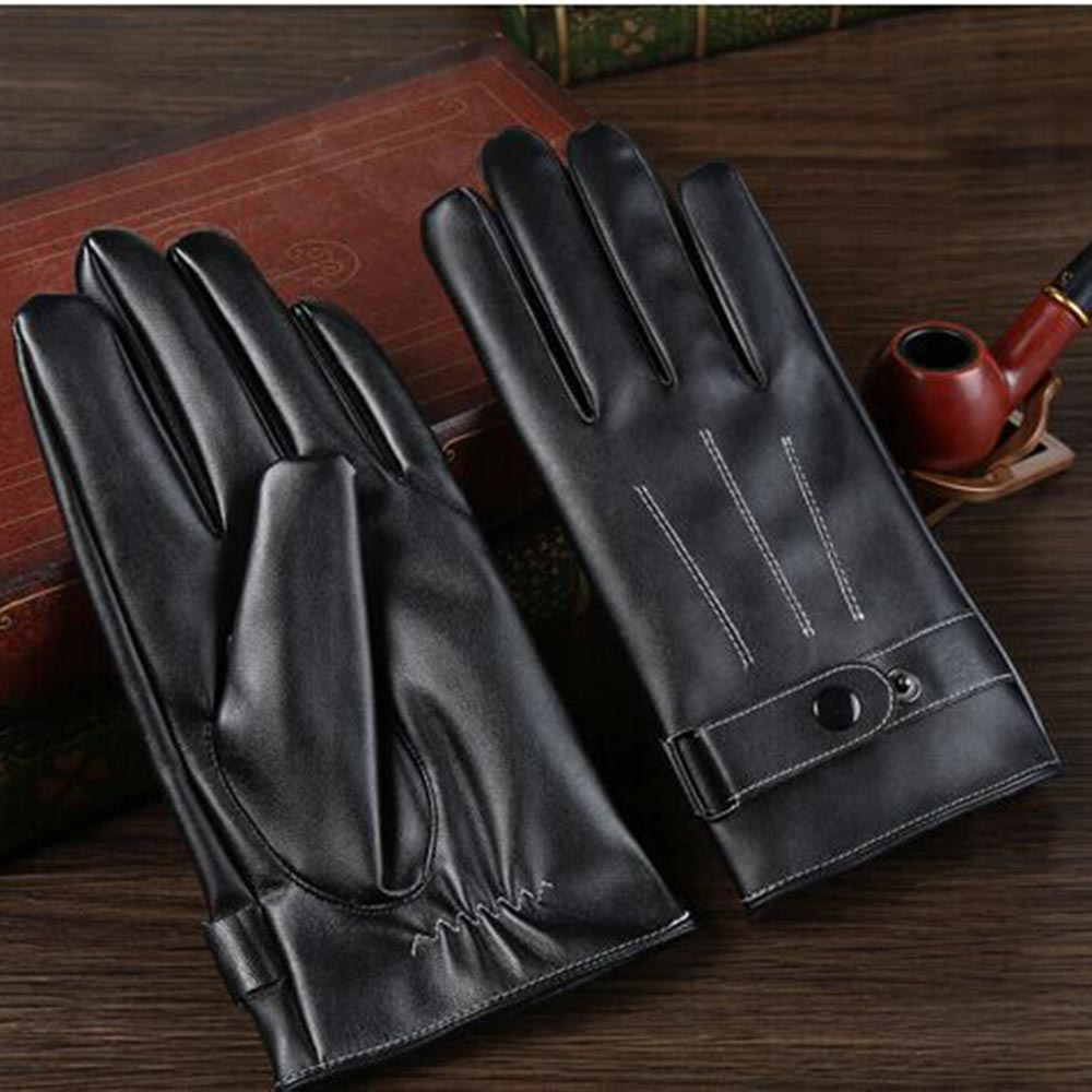 1-Pair-Fashion-Motorcycle-Driving-Pu-Leather-Gloves-Faux-Leather-Gloves-O7J5I