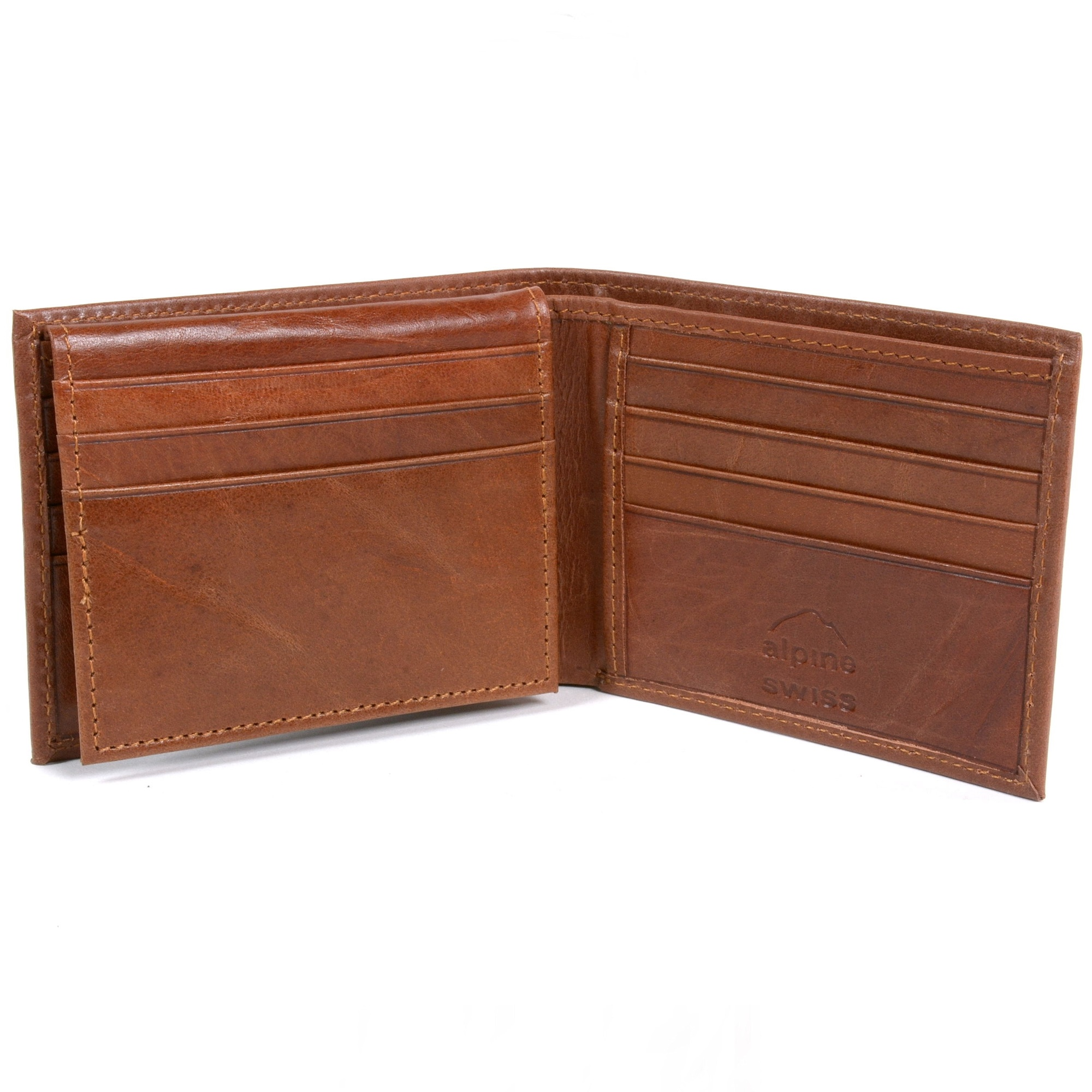 RFID-SAFE-Alpine-Swiss-Mens-Deluxe-Wallet-Genuine-Leather-14-Pocket-ID-Bifold thumbnail 24