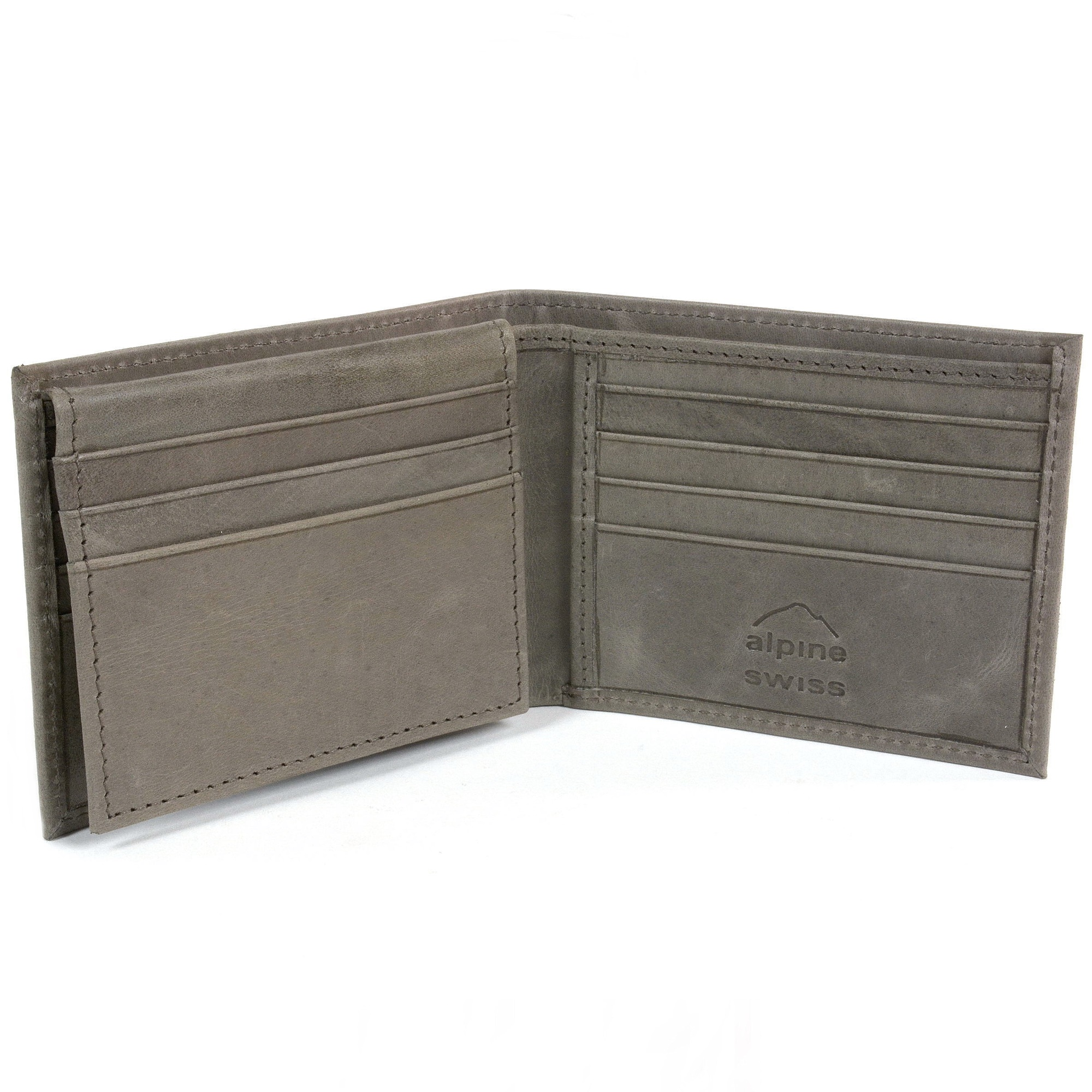 RFID-SAFE-Alpine-Swiss-Mens-Deluxe-Wallet-Genuine-Leather-14-Pocket-ID-Bifold thumbnail 31